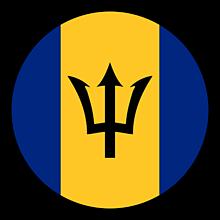 Odznaky/Brošne - Barbados vlajka - 11237471_