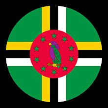 Odznaky/Brošne - Dominika vlajka - 11237476_