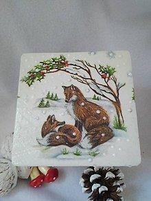 Dekorácie - Drevená kocka so zvieratkami - 11238638_