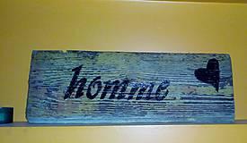 Dekorácie - drevena tabulka - 11236519_