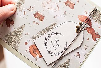 """Papiernictvo - Vianočná pohľadnica """"ľúbivé a veselé"""" - 11238706_"""