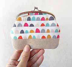 Peňaženky - Peňaženka XL Farebné oblúčiky - 11235526_