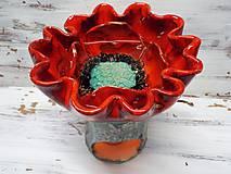 Svietidlá a sviečky - Aromalampa kvetová - 11237319_