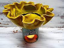 Svietidlá a sviečky - Aromalampa kvetová - 11237322_