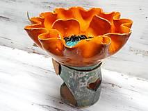Svietidlá a sviečky - Aromalampa kvetová - 11237330_