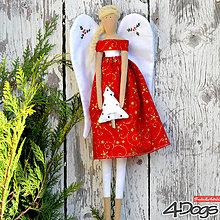 Bábiky - Vianočný anjel (Červená) - 11236041_