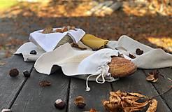 Úžitkový textil - Vrecúško na chlieb z ručne tkaného plátna - 11238211_
