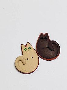 Galantéria - Dekoratívny gombík malá mačička - 11240427_