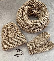 Čiapky - Čiapka, nákrčník a rukavice. (Jaspis) - 11239563_
