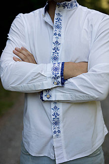 Oblečenie - Celoprepinacia modra - 11239199_