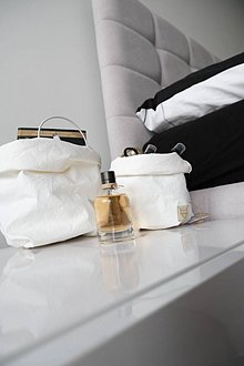 Košíky - Small home bag White - 11239611_