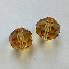 Korálky - Sklenené brúsené korálky 14mm-1ks - 11242210_