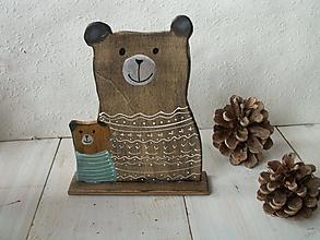 Dekorácie - Medvedík - 11241655_