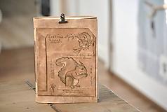 Papiernictvo - kožený zápisník SCIURUS VULGARIS - 11239125_