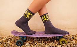 Obuv - ;semikolon; kolekcia // ručne maľované ponožky // posledné kusy! - 11241265_