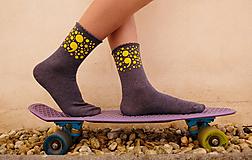 Obuv - ;semikolon; kolekcia // ručne maľované ponožky // posledné kusy! - 11241266_