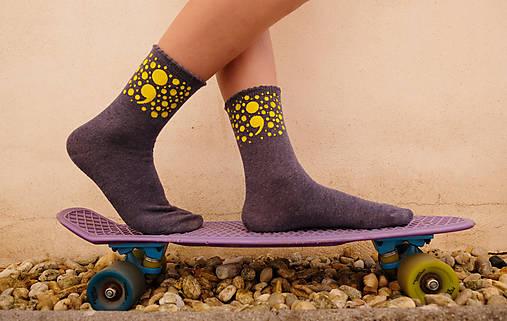 ;semikolon; kolekcia // ručne maľované ponožky // posledné kusy!