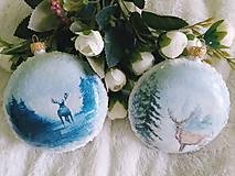 Dekorácie - Vianočné medailóny - Zimná krajina - 11240314_