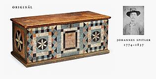 Nábytok - Maľovaná truhlica Johannes Spitler (rôzne veľkosti) - 11241256_