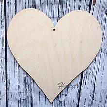 Polotovary - Drevené srdce maxi 20x20 cm - 11242482_