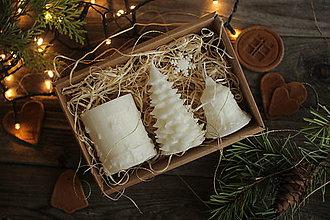 Svietidlá a sviečky - Vianočná SADA sviečok V DARČEKOVOM BALENÍ - 11241132_