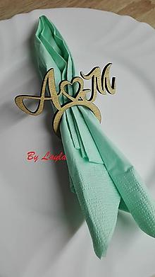 Darčeky pre svadobčanov - Obruče na servítky - 11240767_
