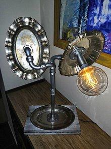 """Svietidlá a sviečky - Stolná lampa """"Silver Blossom"""" - 11241362_"""
