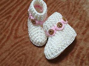 Topánočky - Detské hačkované papučky 37 - 11242623_