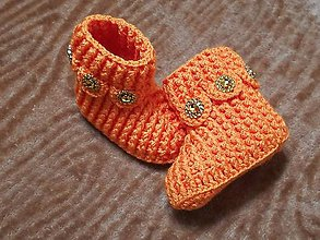 Topánočky - Detské hačkované papučky 38 - 11242633_