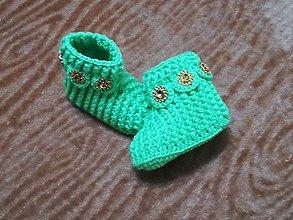 Topánočky - Detské hačkované papučky 39 - 11242638_