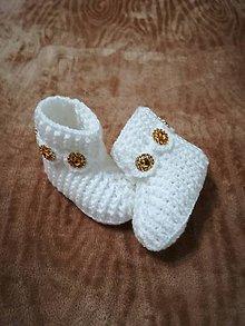Topánočky - Detské hačkované papučky 57 - 11242653_