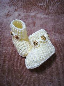 Topánočky - Detské hačkované papučky 54 - 11242654_