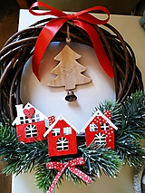 Dekorácie - Vianočný veniec Nordic cottage - 11239393_