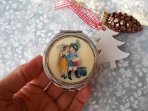 Zrkadielka - Vianočné zrkadielko - 11241698_