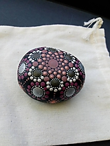 Dekorácie - Staroružová mandala - Na kameni maľované - 11240958_