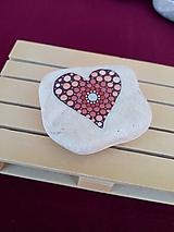 Drobnosti - Červená láska - Na kameni maľované - 11241046_