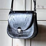 Kabelky - Kožená retro kabelka *ľadové kvety* - 11240276_