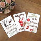 Detské doplnky - Miľníkové kartičky zimné (vianočné) 10 ks (A5) - 11238968_