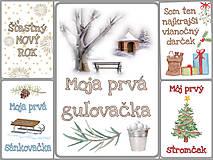 Detské doplnky - Miľníkové kartičky zimné (vianočné) 10 ks (A5) - 11238969_