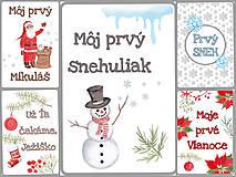 Detské doplnky - Miľníkové kartičky zimné (vianočné) 10 ks (A5) - 11238970_