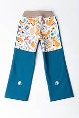 Detské oblečenie - Softshellové nohavice Zvieratká - 11242279_