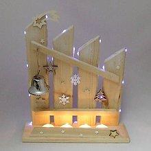 Dekorácie - HELIOS - vianočný svietnik - svietiaci adventný plot - 11241344_