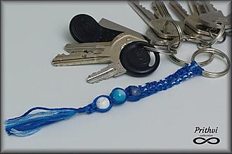 """Kľúčenky - Macramé kľúčenka """"Pokojná myseľ """" - 11240891_"""