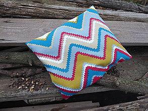 Úžitkový textil - malý špaldový nahrievací vankúš-cik,cak - 11238989_