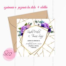 Papiernictvo - svadobné oznámenie S02 - 11242041_