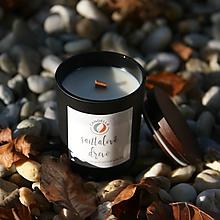Svietidlá a sviečky - Santalové drevo - sójová sviečka (S) - 11241591_