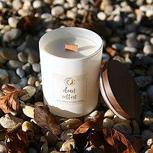 Svietidlá a sviečky - Clean cotton - sójová sviečka (L) - 11241646_