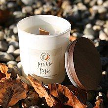 Svietidlá a sviečky - Jesenné lístie - sójová sviečka (M) - 11241803_