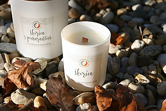 Svietidlá a sviečky - Škorica - sójová sviečka (S) - 11242625_