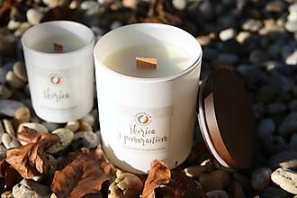 Svietidlá a sviečky - Škorica s pomarančom - sójová sviečka (L) - 11242657_